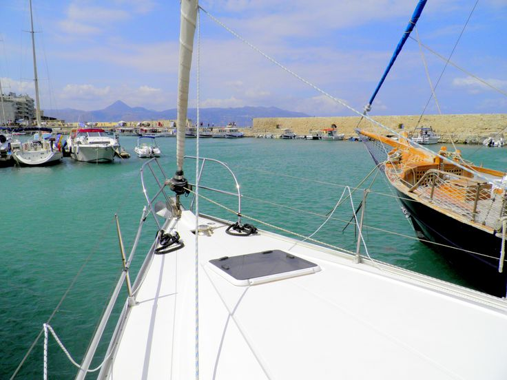 Photo taken on #Blu boat moored at #Venetian Koules Heraklion port! Travel with our #sailing boat and live the dream! sailingtheblu@gmail.com