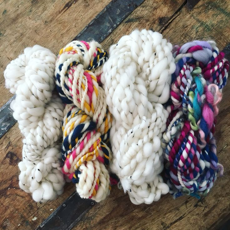 4 skeins of hand spun sent off to new homes this week