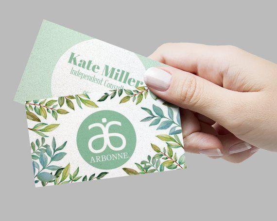 Arbonne Business Card Template Editable Arbonne Business Etsy Arbonne Business Cards Arbonne Business Arbonne