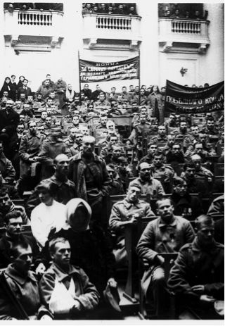 February Revolution, Petrograd Soviet of Workers' and Soldiers' Deputies, Tauride Palace
