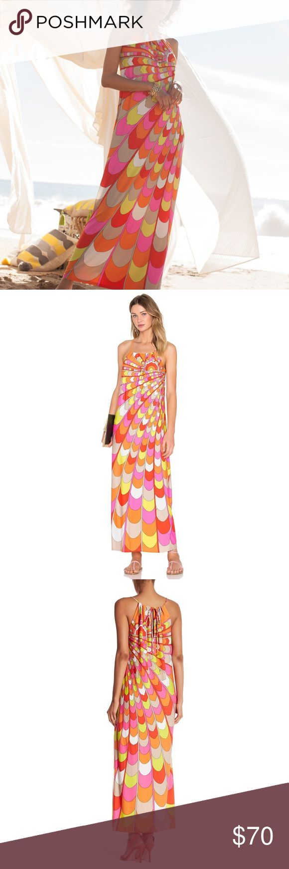 """• NWOT Trina Turk Bennie Jersey Maxi Dress • Armpit to armpit: 17.5 in  Details:  Crew neck Adjustable spaghetti straps Sleeveless Back keyhole with tie closure Allover print Approx. 55.2"""" length  Made in USA Trina Turk Dresses Maxi"""