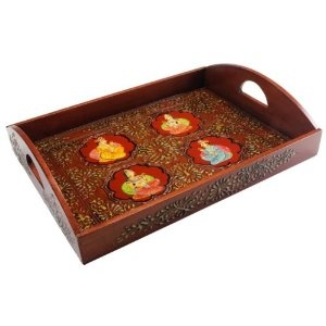 Accessories -- Embossed and Hand-painted Ethnic Decorative Tray