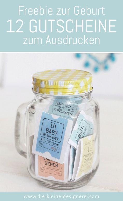 Idée cadeau pour la naissance, 12 bons pour bébé à imprimer   – Rund ums Baby