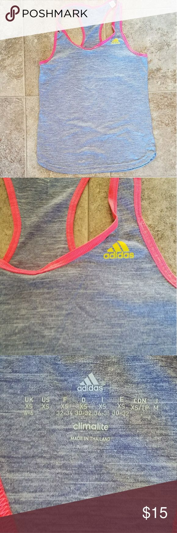 Adidas Climalite tank top Adidas Climalite tank top. VEUC. Size XS. Very ligjt and perfect for summer running! adidas Tops Tank Tops