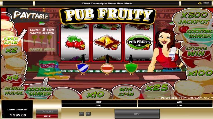 Pub Fruity ™ free slot machine game preview by Slotozilla.com