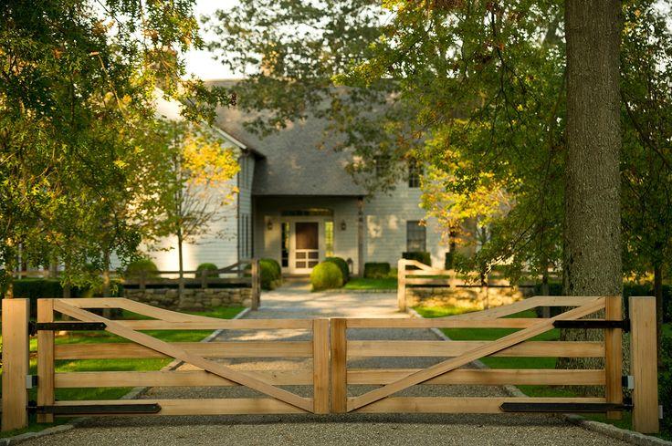 Landscape Designers - Greenwich, CT - Doyle Herman Design Associates~ fab gate design