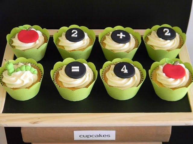 cuteBack To Schools, Schools Parties, School Parties, Parties Ideas, Apples Parties, Schools Cupcakes, Back 2 Schools, Parties Cupcakes, Backtoschool