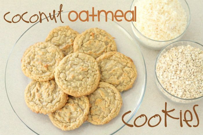"Coconut Oatmeal Cookies- Another pinner said, ""the hubby's favorite. YUMMY!"" ***I made these 8-30-12. They were pure comfort food! So moist and chewy in the middle and crisp on the edges. This recipe is a keeper! Made 4-1/2 dozen cookies so could freeze some of the dough for later."