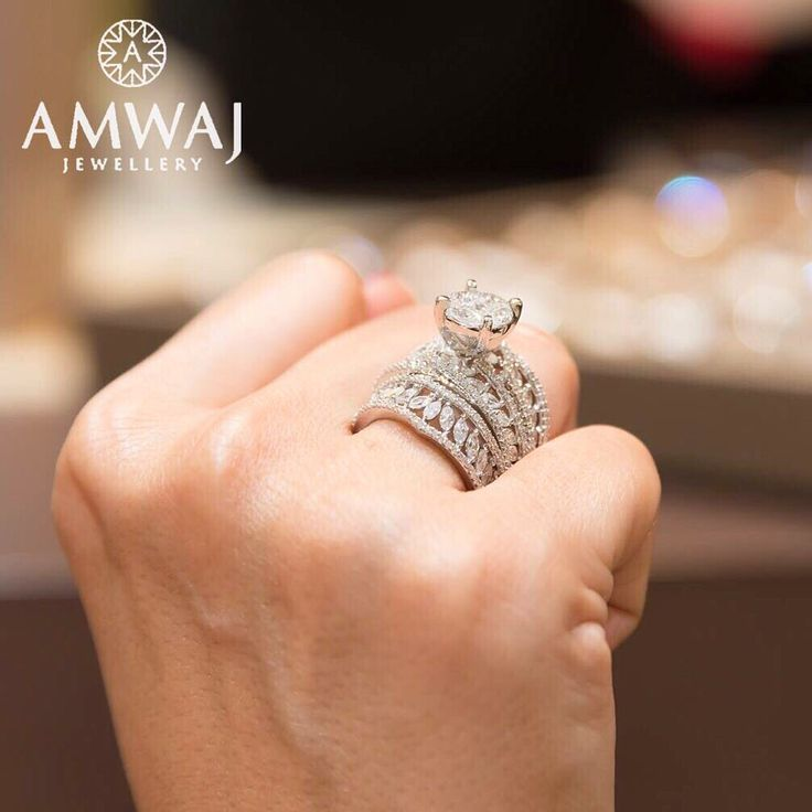 "That's what we call a diamond ring that ""stands out"" هذا مانسميه بالخاتم الماسي الرائع من أمواج #bride #thebrideshow #thebrideshowdubai #february #jewelry #exclusive #simplyabudhabi #mydubai #middleeast #doha #luxury #uae #abudhabi #ksa #love #diamonds #bahrain #beauty #wedding #family #women #qatar #dubai #style #wedding #saudiarabia #gift #vip"