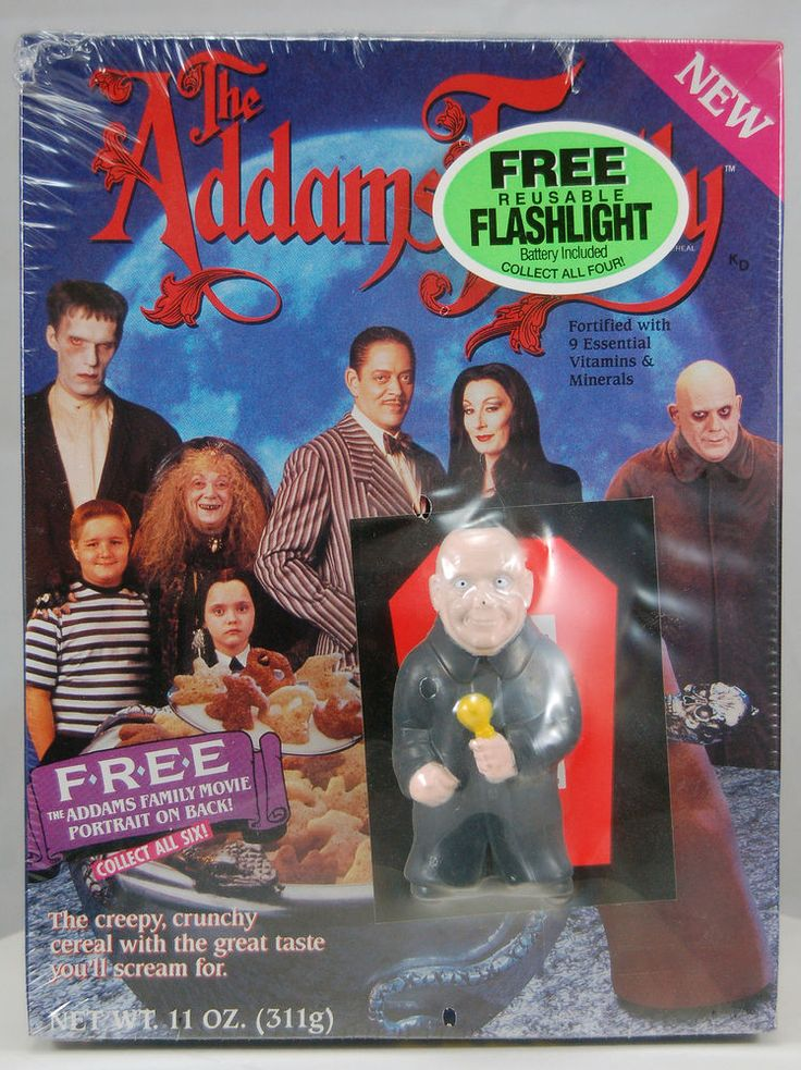 UNCLE FESTER-ADDAM'S FAMILY CEREAL • RALSTON 1991 • CHARLES ADDAMS #Ralston