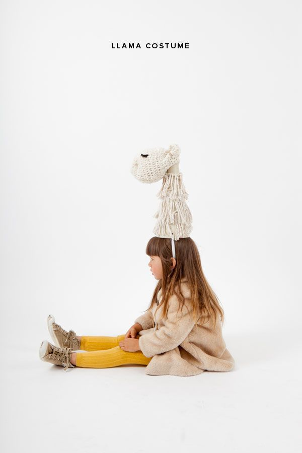 Make this Llama costume out of a mop head! This sweet little llama can be put together in an...