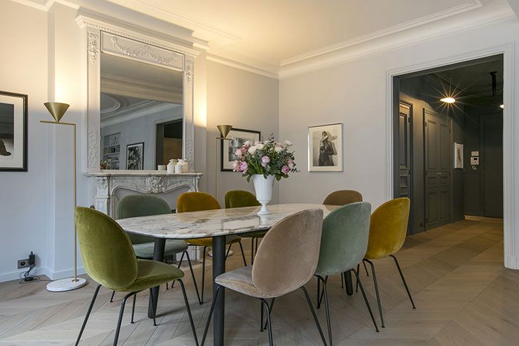 Apartment In Paris Modern Interiors Interesting Details And French Style 155 Sqm Dining Room Design Apartment Decor Modern Interior