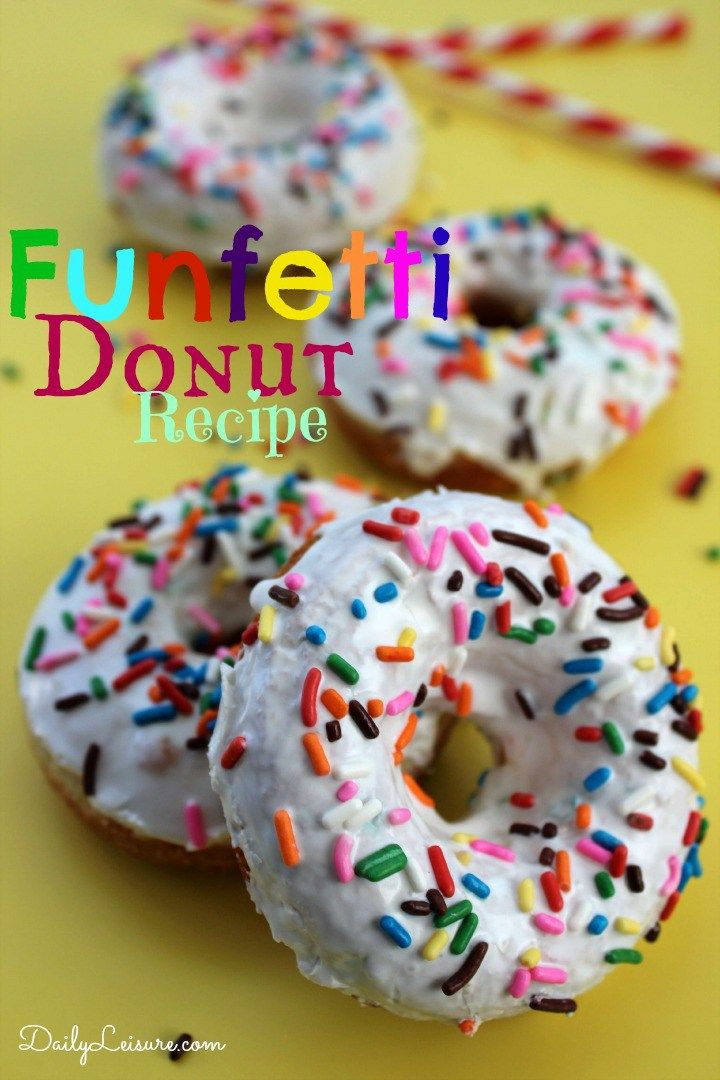 Funfetti Donut Recipe. An awesome way to make donuts using cake mix. One of the most requested desserts for a birthday party.