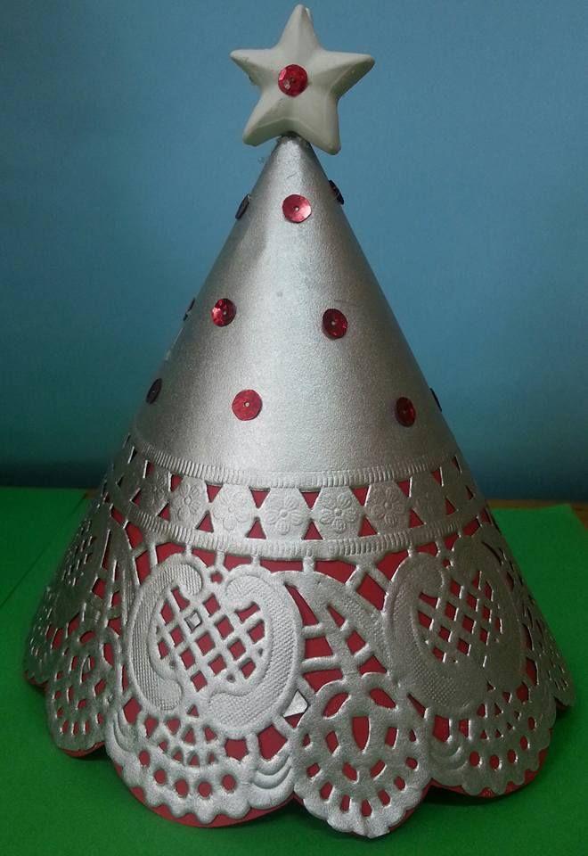 Sottotorta per albero di Natale  argento