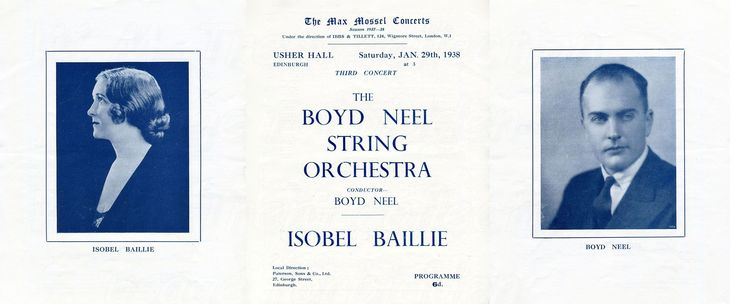 29th Jan 1938 Isobel Baillie at the Usher Hall, Edinburgh.    She was born on 9th March 1895 in Hawick, Scotland and died on 24th Sept 1983 in Manchester, England.