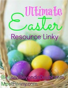 The Ultimate Easter Resource Linky with tons of great ideas for your Easter celebration. Bloggers ~ Come link up!