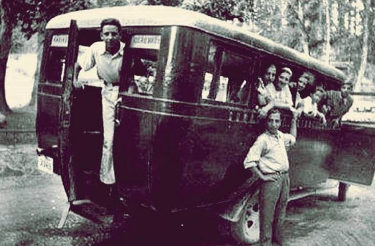 """""""I haven't been everywhere, but it's on my list"""" - Susan Sontag Photo: a mini-bus (Kadikoy and Icerenkoy) 1930s #istanlook"""