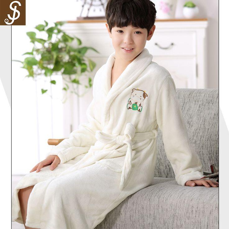 S&J high quality 100% polyester microfiber flannel reversible children bathrobe belt