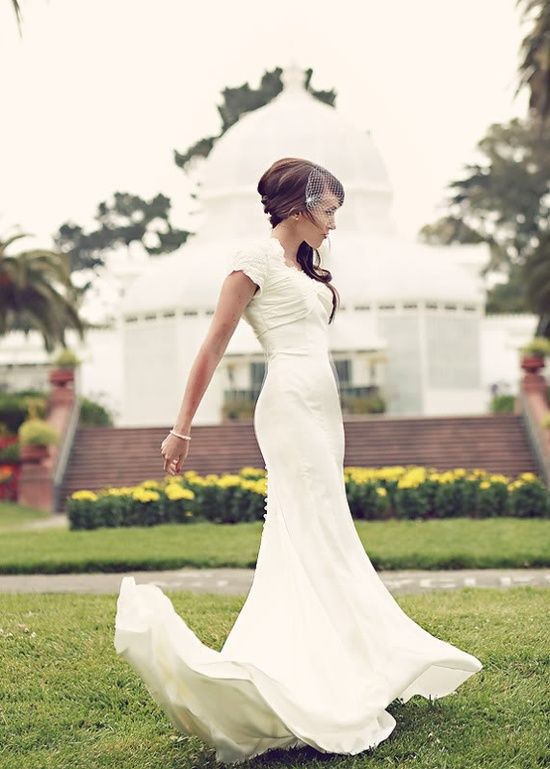 1023 best dream wedding images on pinterest wedding for Sleek wedding dresses with sleeves