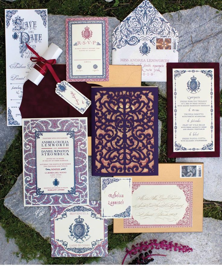 super unique laser cut wedding invitations%0A Luxury Wedding Invitations by Ceci New York  Our Muse  Regal Romantic  Setting in Italy  Be inspired by this regal  romantic setting in It