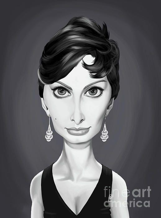 Sophia Loren art | decor | wall art | inspiration | caricatures | home decor | idea | humor | gifts