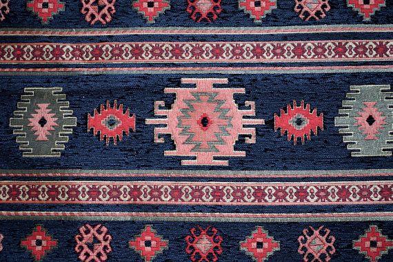 Black Chenille FabricCarpet FabricEthnic FabricKilim
