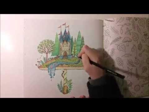 Pastel Pencils Colored Filmer Johanna Basford Secret Garden Coloring Tutorial Pencil Techniques Adult Books