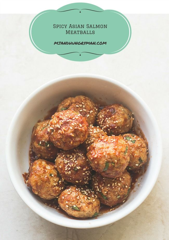 Spicy Asian Salmon Meatballs - MJ and Hungryman - Austin, TX Registered Dietitian Nutritionist