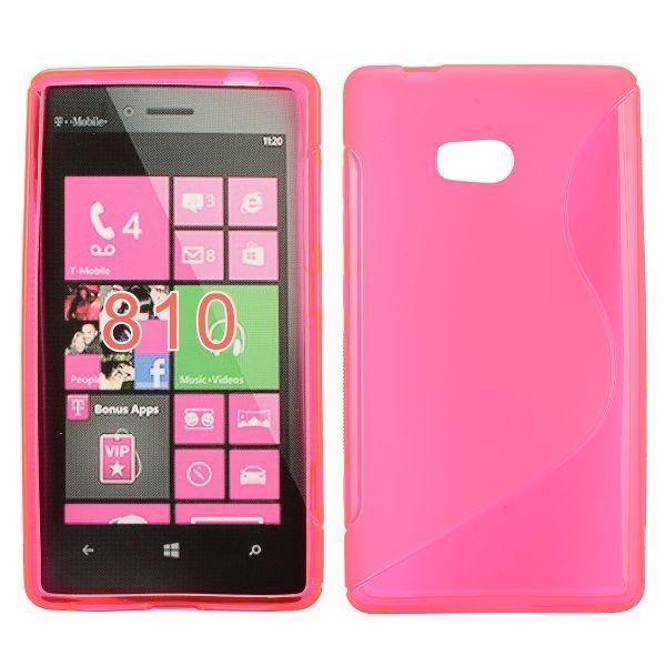 S-Line Transparent (Hot Pink) Nokia Lumia 810 Cover