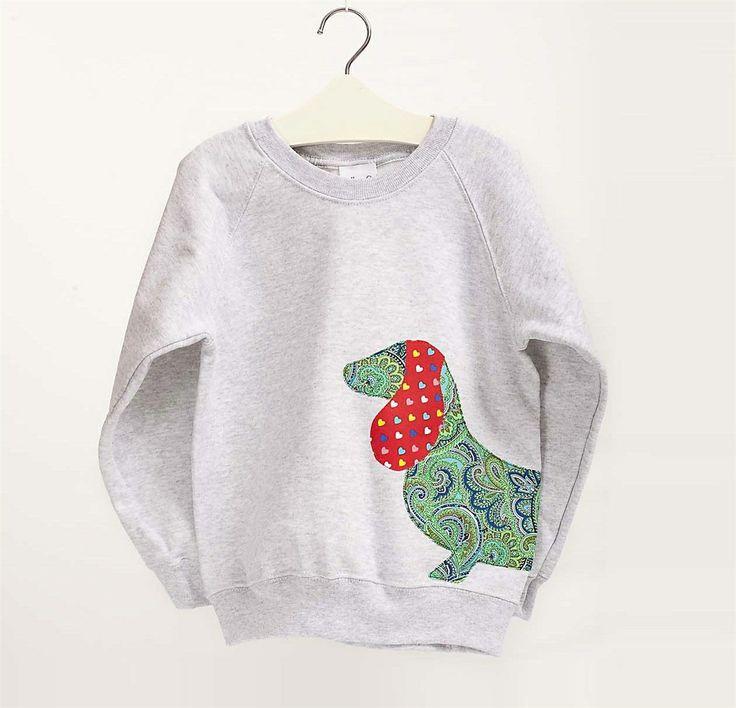 Children's Sausage Dog Sweatshirt - by Ella & Oscar, £24.99