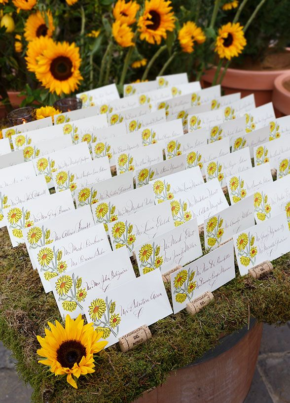 craft ideas for wedding place cards%0A    Fantastic New Wedding Escort Card Ideas      A wine barrel topped with
