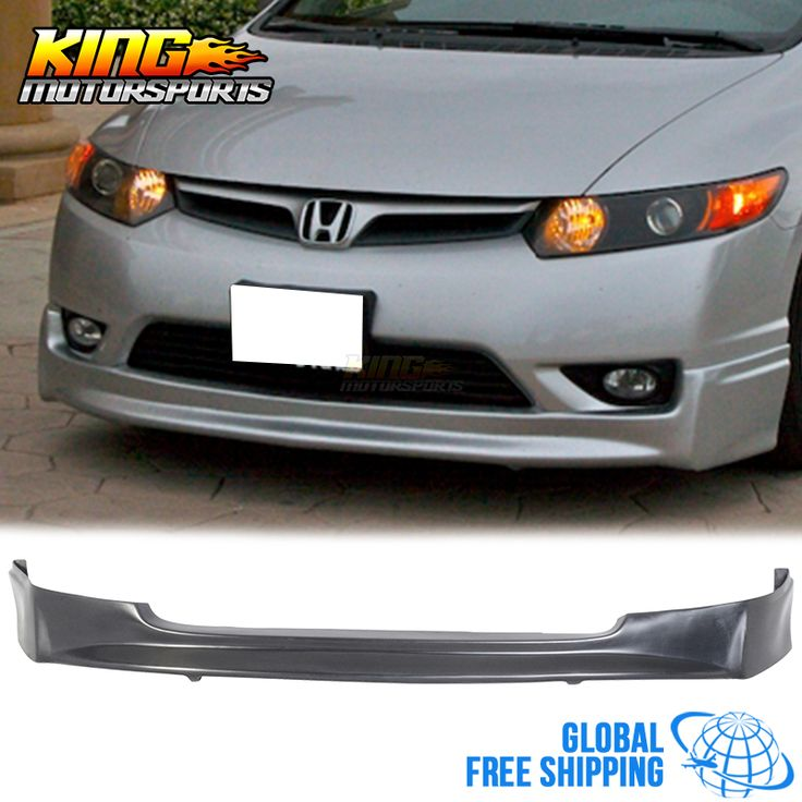 For 2006 2007 2008 Honda Civic 4Dr 4Door Polyurethane MU Front Bumper Lip Spoiler Global Free Shipping Worldwide #Affiliate
