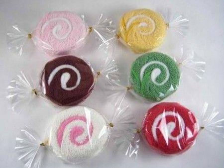 como hacer figuras con toallas con forma de caramelos