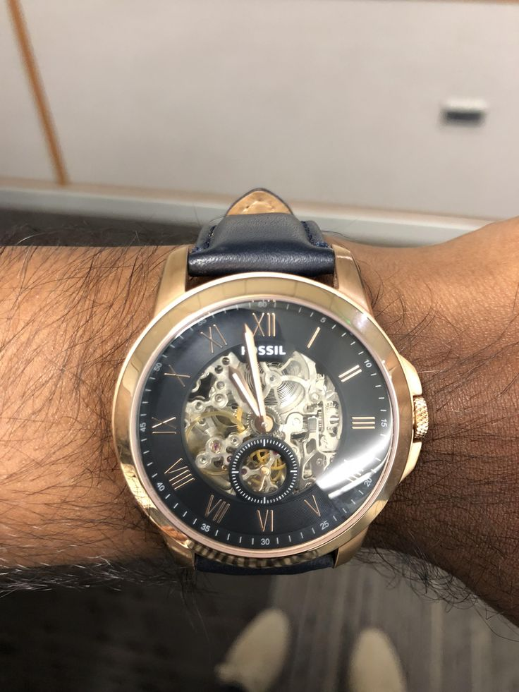 [Fossil] Navy grant analog via /r/Watches