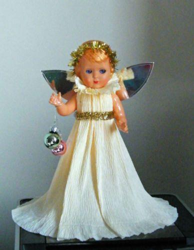 Vintage Fairy Angel Doll - Very Cute - Retro / Kitsch Christmas Tree Topper | eBay