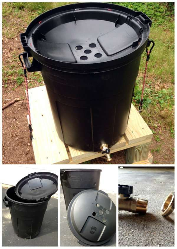 Baril pour collecter l'eau de pluie