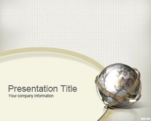 Free Investor PowerPoint template for presentations with a world globe image and sepia background style