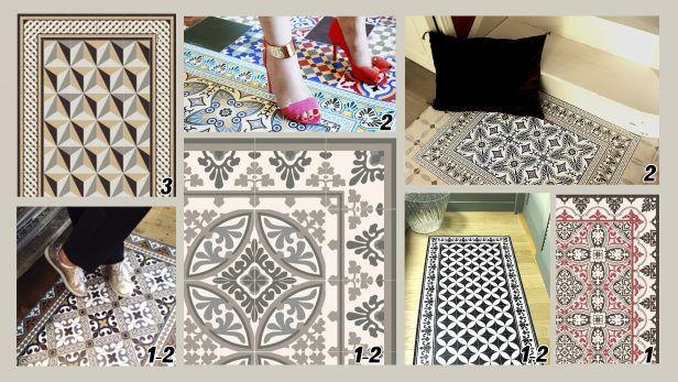 top 25 best tapis vinyl cuisine ideas on pinterest. Black Bedroom Furniture Sets. Home Design Ideas