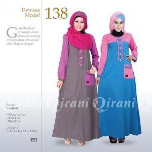 Baju Gamis Qirani Model 138 Terbaru http://distromuslimah.net/baju-gamis-qirani-model-138-terbaru/