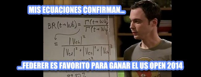 """Las ecuaciones del Dr. Sheldon Cooper de """"Big Bang Theory"""" confirman que tras el triunfo en Cincinnati, Roger Federer es el favorito para ganar el US Open 2014"""