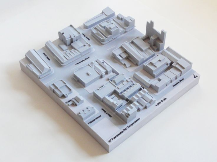 1:500 white and grey cityscape context model for submission to the City of Sydney. #3dprintedarchitecture