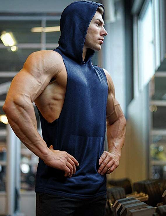 Aimpact Muscle Workout Gym Tank Tops Sleeveless Hoodies Men Weightlifting Shirts Reputation First Activewear Tops Men's Clothing