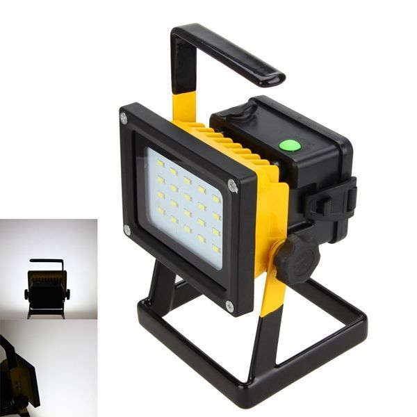 Rechargeable 30W Outdoor Portable LED Flood Spot Work Light Caravan Camping Lamp #Unbranded