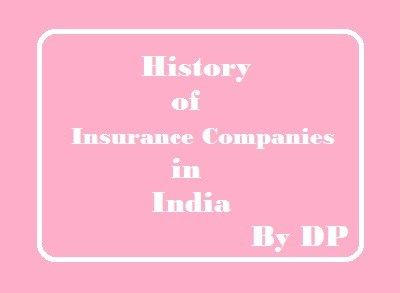 History of Insurance  Companies in India