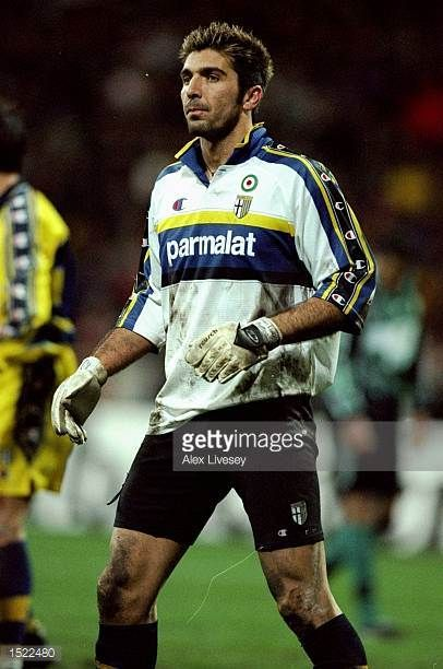 Gianluigi Buffon of Parma during the UEFA Cup fourth round second leg game between Werder Bremen and Parma at the Weserstadion in Bremen Germany The...