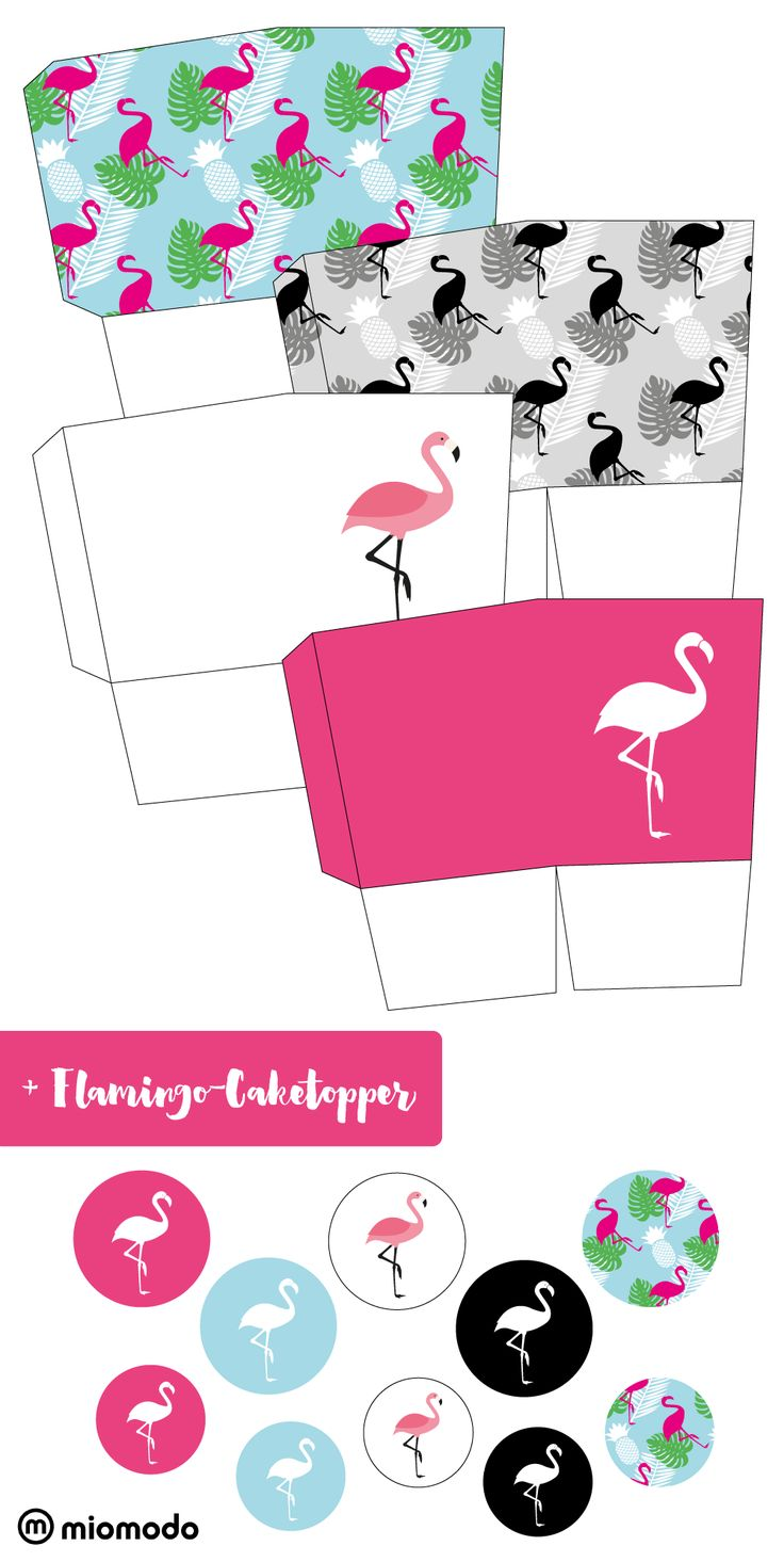 miomodo-Geschenkbox-Flamingo-Pinterest #freebie #printable #flamingo