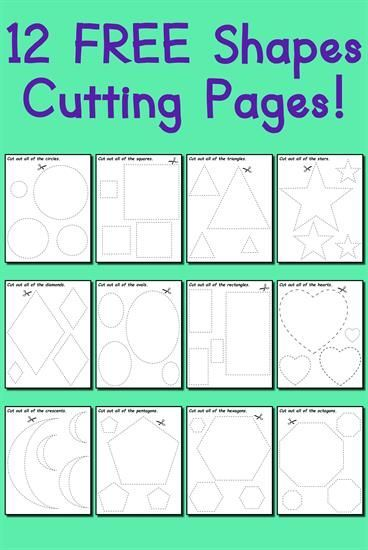 cutting practice coloring pages - photo#25