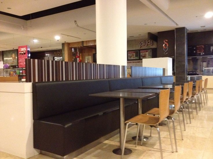 Banquette seating in shopping malls