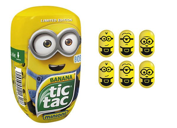 The Limited Edition Tic Tac Minions is Released to Celebrate the Movie #minions trendhunter.com