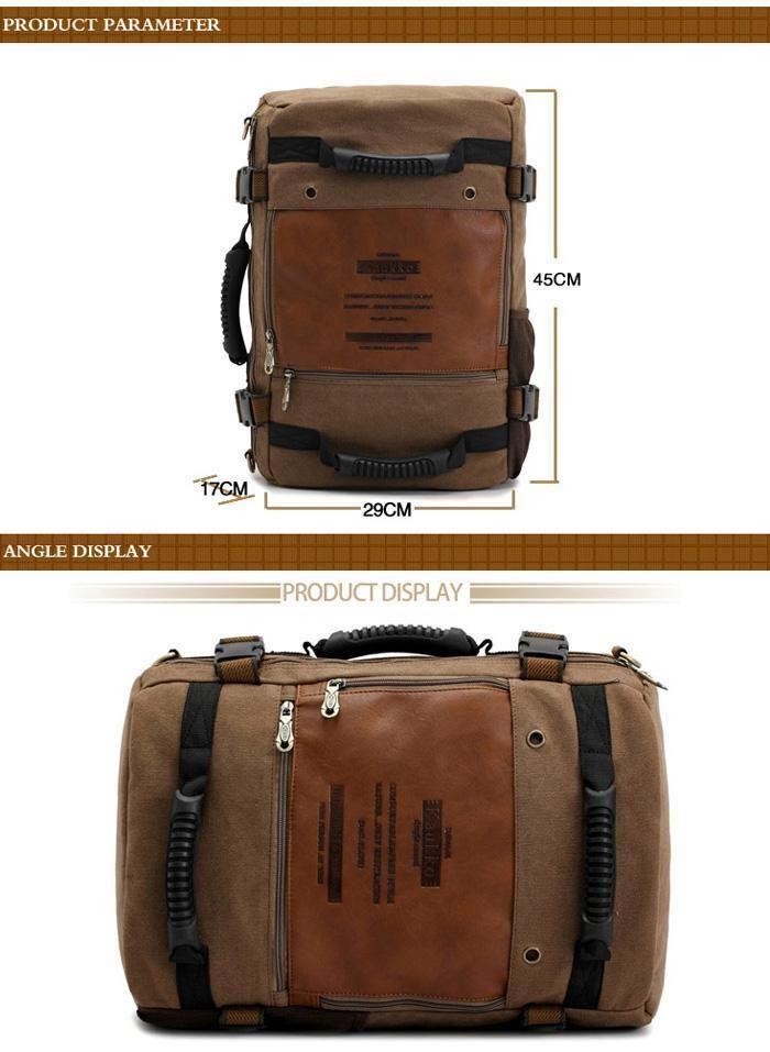 Kaukko Backpack Handbag Bag Canvas Camping Hiking Outdoor Traveling Climbing…